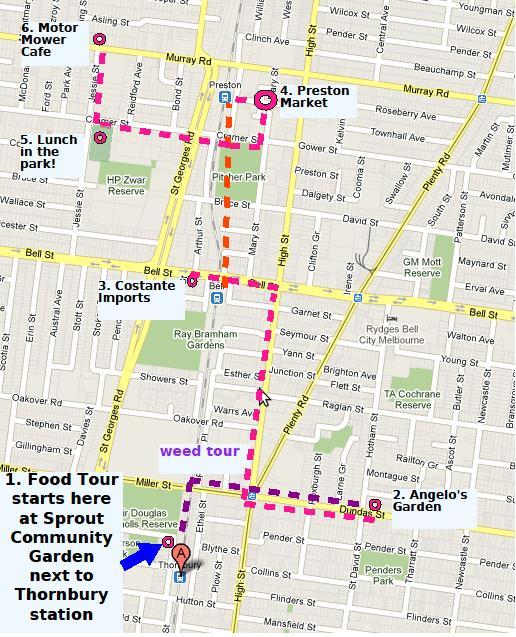 food tour map