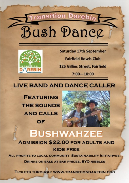 Bush Dance flyer